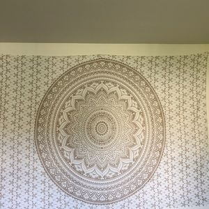 Gold and white tapestry